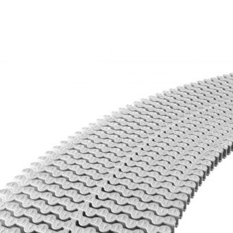 Módulo rejilla transversal blanco para curvas