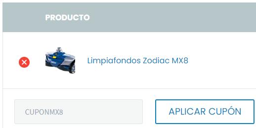 Limpiafondos Zodiac MX8