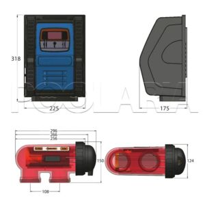 Clorador salino CTX E-Series 35 g CL/H 120 m3