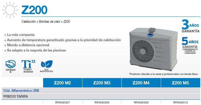 Bomba de calor Zodiac Z200