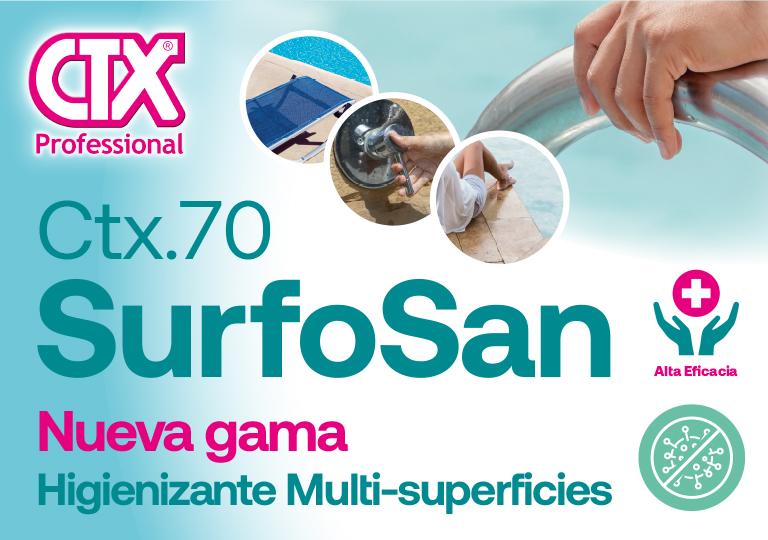 Lanzamiento desinfectante CTX-70 Surfosan anti coronavirus (covid-19)