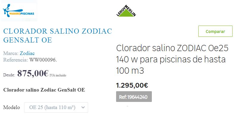 Características y opiniones del Clorador salino Zodiac GenSalt OE