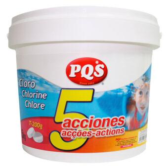 Cloro 5 acciones PQS T-200g 5kg